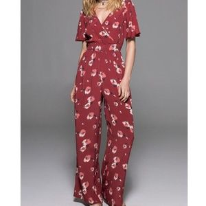 Band of Gypsies Floral Jumpsuit Small